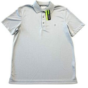 Men's Izod Golf Gray Checkered Polo